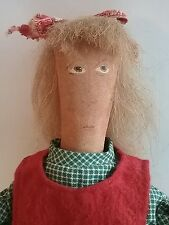 "Holly by Doll Artist Greta Chirco Sew Be It Folk Art Primitive Large Doll 20"""