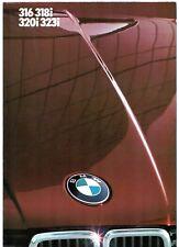 BMW 3-Series E30 1983 UK Market Foldout Sales Brochure 316 318i 320i 323i