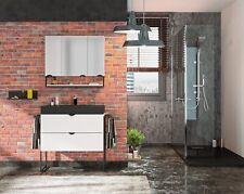 Meuble de Salle de Bain Set Meuble 80 cm Évier Armoire de Toilette Pré-assemblé