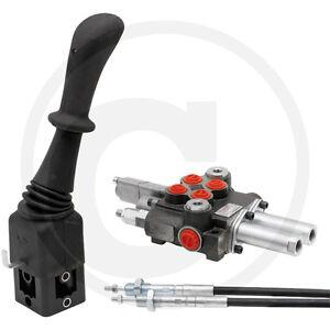 Hydraulik Steuergerät Frontlader 2xdw 50 l/min Schwimmstellung 1,5m Bowdenzug 0T