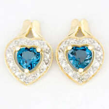 Handmade Topaz Stud Fine Earrings