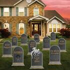 Pirate Tombstones Halloween Yard Sign Decoration Set of 11, 16 Inches by 23.5