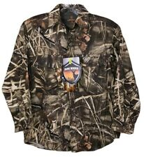 Realtree Max-4 Youth S Camo Hunting Game Winner Button Shirt Durasoft NWT NEW