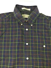 Orvis Green Red Plaid Button-front S/S Shirt size L