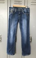 Grace In LA Boot Cut Embellished Jeans 27 Denim