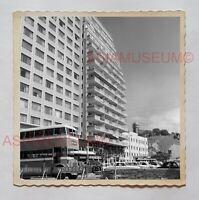 DOUBLE DECKER BUS CAR HOTEL BUILDING KOWLOON Vintage Hong Kong Photo 27158 香港旧照片