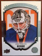 2015-16 UD Hockey Series 2 Jean-Francois Berube P-98 UD Portraits Rookie