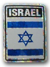 Israel Country Flag Reflective Decal Bumper Sticker