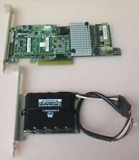 LSI MegaRAID MR SAS 9266-8i RAID 1GB Controller Card L3-25413-17A With Battery