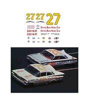 #27 Junior Johnson 1960 Chevy DECAL 1/64 scale fits AFX Tyco Aurora Autoworld
