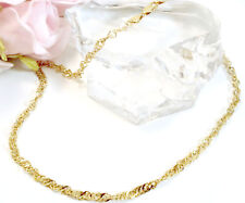 "Vintage Jewelry Fine 14 K Gold 18"" Twisted  Link Necklace"