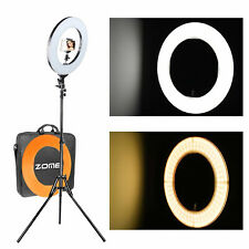 Camera Photo Video Dimmable Ring Light with orange filter Lighting Kit 14""