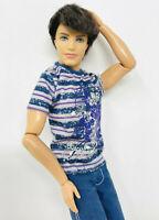 2011 Barbie Fashionistas Brunette Ken Ryan Doll Articulated Boy Rooted Hair