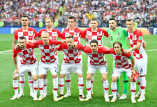 Croatia - 2018 World Cup Final Starting 11 - 8x10 Team Photo