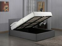 The beautiful 'Fusion' Grey Storage Fabric Bed Available in ALL SIZES!
