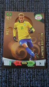 2014 Neymar Jr panini road to World Cup Brasil Adrenalyn XL LIMITED EDITION RARE