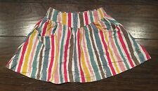 THE TOM LITTLE JOULES Circus Boutique EUROPEAN Rainbow Striped Skirt 104 4 4T