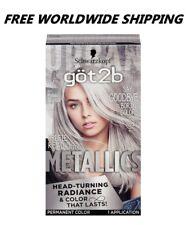 Schwarzkopf Got2b Metallic Silver Metallics Permanent Hair Color FREE WORLD SHIP