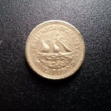 1998 1 Pound £1 Coin Bailiwick of Jersey Schooner Resolute Ship
