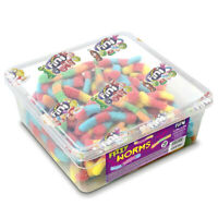 Calories in Fini Fizzy Worms Jelly Gummy Soft Sweets 750g Tub