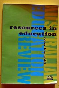 Resources in Education by Ross Harold (Paperback, 1998)