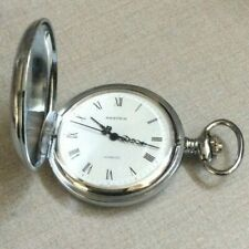 Nastrix Silver Pocket Watch 17 Jewel Incabloc Swiss Made Hand Winding Movement