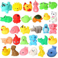13x Baby Bath Toys Squeaky Rubber Animal Floating Water Kids Toy. Children