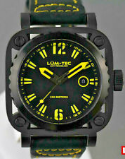 Lum-Tec Watch G8 Mens Yellow & Black Leather Limited Edition AUTHORIZED DEALER