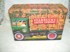 STARBUCKS COFFEE DELIVERY TRUCK TIN BOX Made in England