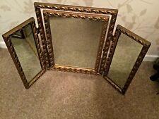 Vintage Gilt Framed Triple Mirror