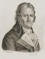 FORESTIER; SABATIER, Selbstportrait des Künstlers Sabatier, 19. Jh., Litho