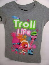 Trolls Grey Tshirt Size S with Troll Life graphic Poppy DJ Suki Cooper