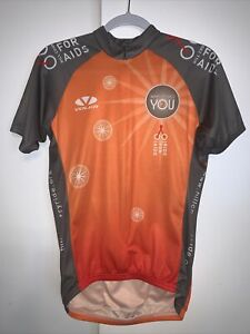 Voler Cycling Jersey Hill Country Ride For AIDS Medium Orange/gray