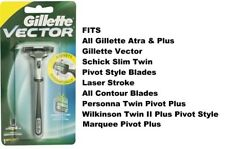 Gillette Vector FT Atra Contour Plus Razor blade Cartridge Refill Handle Shaver