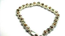 """8.25cts Sparkling Multi Color Tambli Rose Cut Diamond Bracelet 925 7"""""""