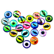Wholesale Lots Glass Cat Dragon Eye Dome Cameo Cabochon Time Gem Jewelry Making