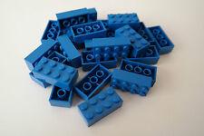 25 Lego Bausteine 2x4 blau NEU Grundsteine Basic Steine 3001