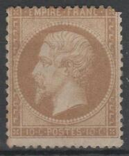 """FRANCE  STAMP TIMBRE 21 """" NAPOLEON III 10c  BISTRE 1862"""" NEUF x SIGNE VOIR  N703"""