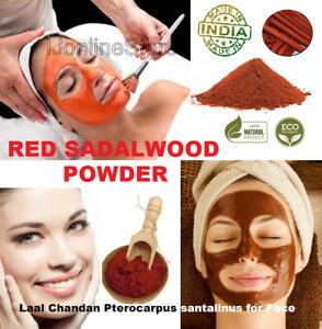 New Pure Red Sandalwood Powder Laal Chandan Pterocarpus santalinus for Face