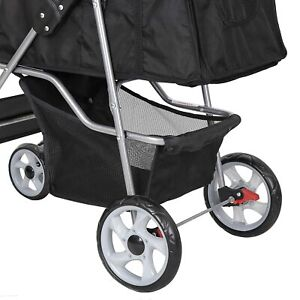Foldable Pet Dog Stroller for Cats and Dog Four Wheels Carrier Strolling Cart