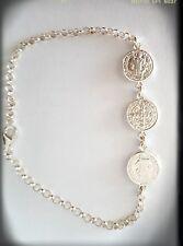 Pulsera San Benito Plata ley bracelet san benito in sterling silver Medallas