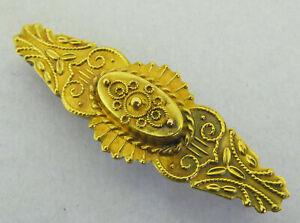 Victorian Edwardian Antique 15K 15CT Gold Etruscan Brooch Pin