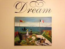"""La terrasse à Sainte-Adresse"""" Oil Painting by Claude Monet (rendition)"""