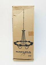 NEW Ikea Natura Hanging Ceiling Candle Chandelier Gothic Black Wrought Iron