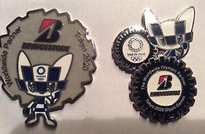 Bridgestone 2 pcs Tokyo 2020 Olympic pins