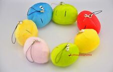 New Clannad Dango Marshmallow Cuddle Phone Chain Ring Bag Charm Plush Stuffed
