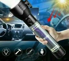 LED Flashlight Emergency Light Solar USB Rechargeable Torch Power Bank Compass