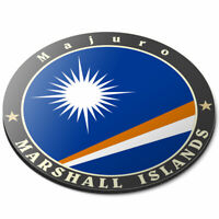 Round Mouse Mat - Marshall Islands Majuro Flag Stamp Office Gift #5087