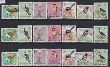 1964 Pre-Decimal Bird Australia Galah Magpie Wren Robin Thornbill Ibis - 3 Sets