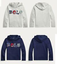 Ralph Lauren Polo Kids Boys Long Sleeve Hoodie T shirt Top Tee 3 4 5 6 7 8 10 12